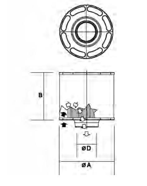 C085004 Luftfilter (DuraLite ECC)