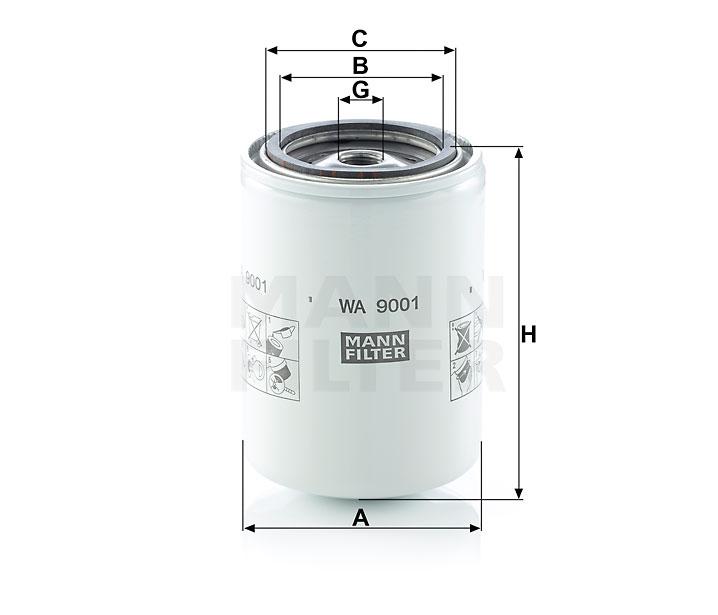 WA 9001 Kühlflüssigkeitsfilter SpinOn