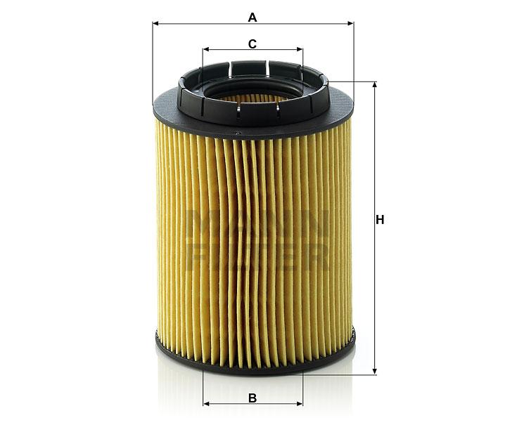 HU 932/6 n Flüssigkeitsfilterelement