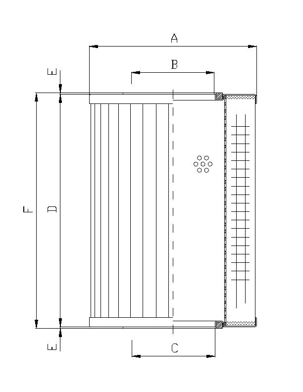 R660G10 Filterelement für Rücklauffilter