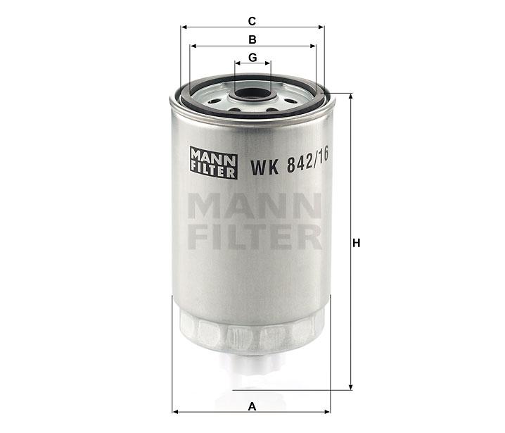 WK 842/16 Kraftstoffwechselfilter