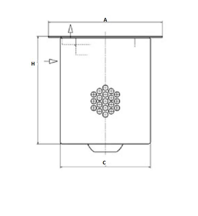 LE 17 013 x Luftentölelement (inkl. Dichtung)