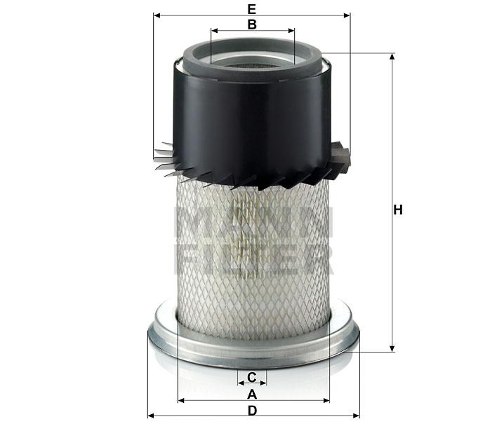 C 16 150 Luftfilterelement