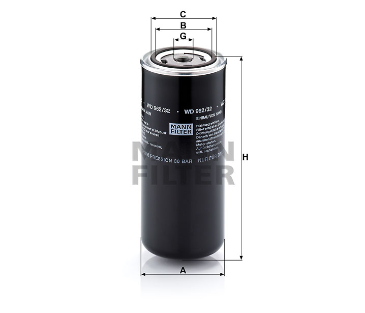 WD 962/32 Wechselfilter SpinOn