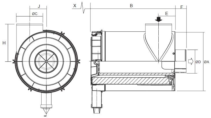 G100420 Luftfilter RadialSeal FRG2