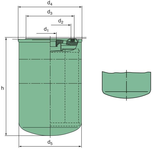 WD 13 145/14 Wechselfilter SpinOn Glasfaser