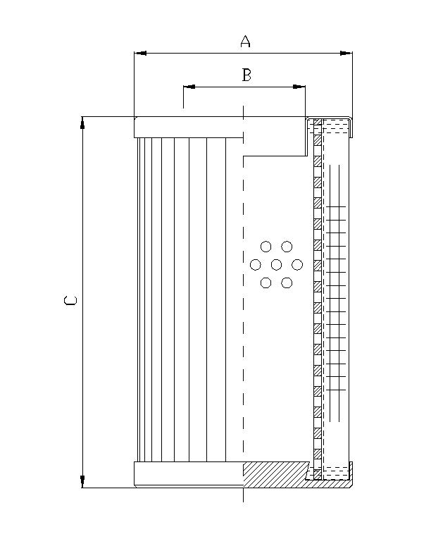 DMD0045W100B Filterelement für Druckfilter