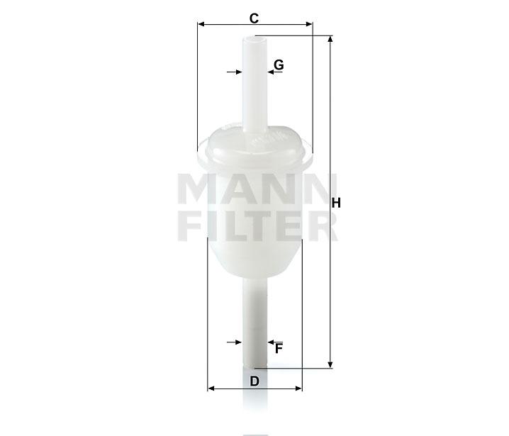 WK 31/4 (10) Kraftstoff-Leitungsfilter (Inline)