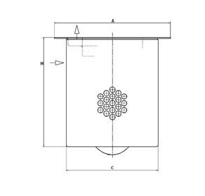 LE 63 002 x Luftentölelement (inkl. Dichtung)