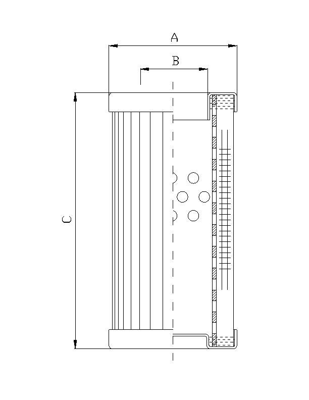 DMD0005B100B Filterelement für Druckfilter