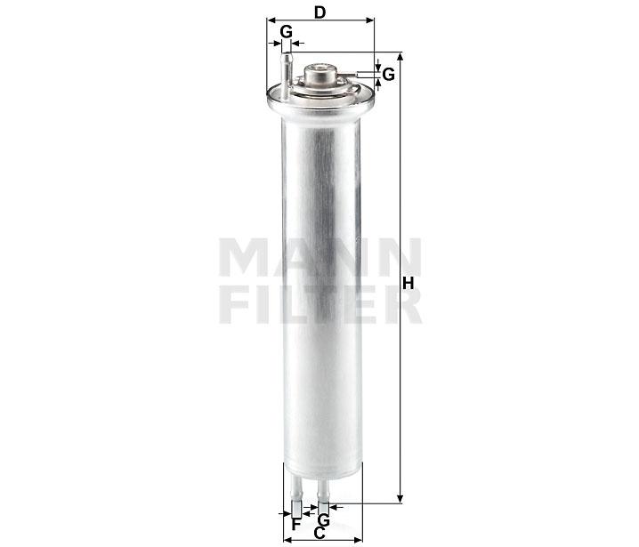 WK 532 Kraftstoff-Leitungsfilter (Inline)