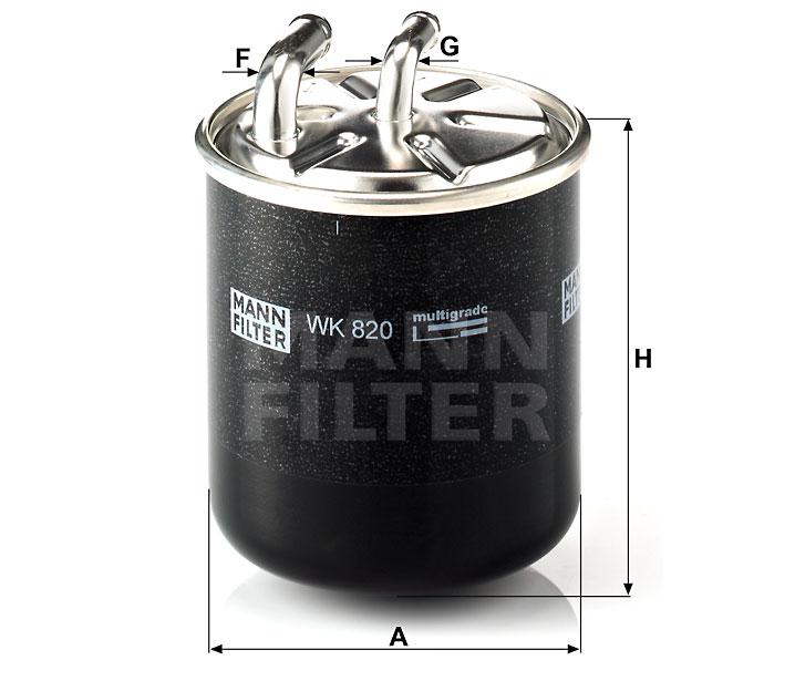 WK 820 Kraftstoff-Leitungsfilter (Inline)