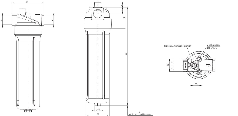 F040DMD0005000BB4DS000 Leitungsfiltergehäuse (Druckfilter)