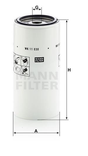 WK 11 030 x Kraftstoffwechselfilter
