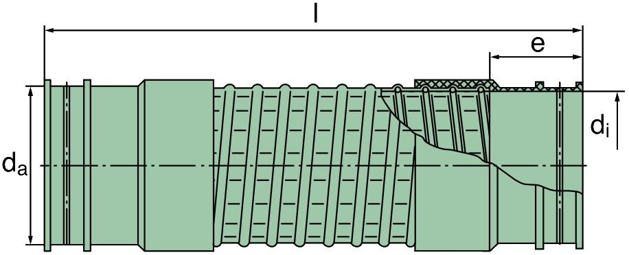 39 000 27 150 Spiralfaltenschlauch 150 x 545mm (TPE)