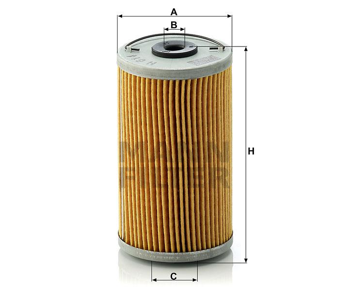 H 614 n Flüssigkeitsfilterelement