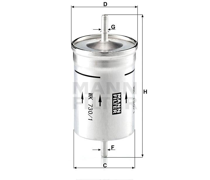WK 730/1 Kraftstoff-Leitungsfilter (Inline)
