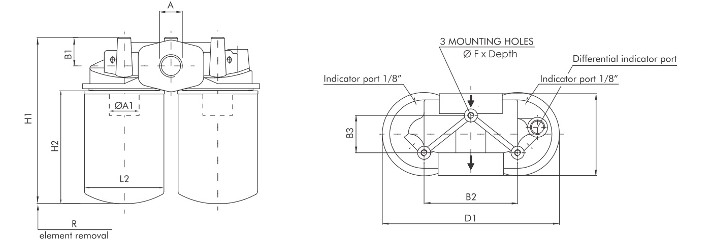 FA140G10BB70Z20 Leitungsfilter (Rücklauffilter)