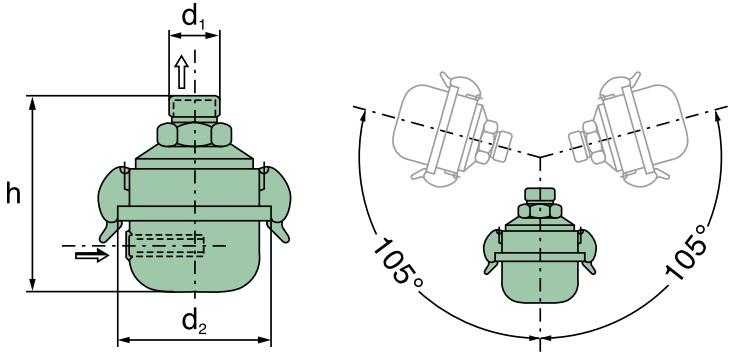 41 004 82 183 Luftfilter (Dämpferfilter G 1/2)