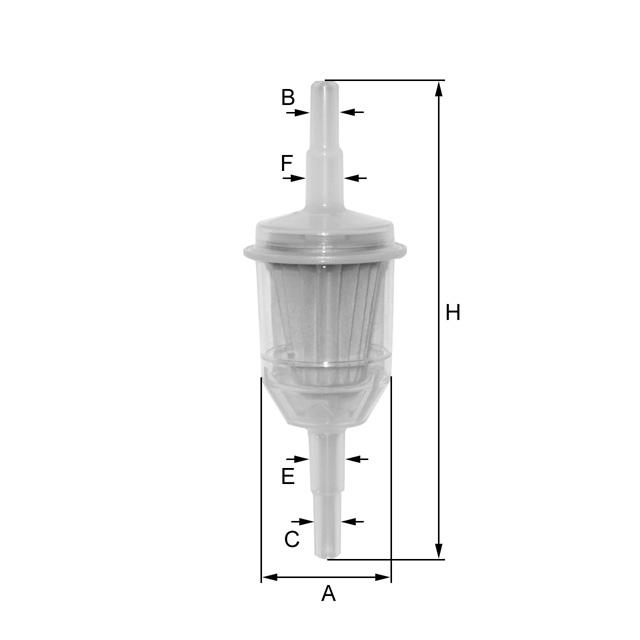 ZP8014FP Kraftstoff-Leitungsfilter (Inline)