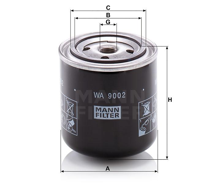 WA 9002 Kühlflüssigkeitsfilter SpinOn