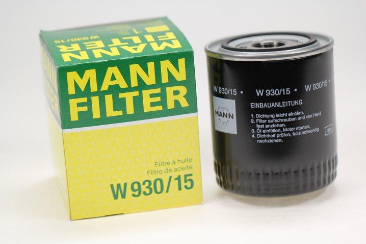 W 930/15 Wechselfilter SpinOn