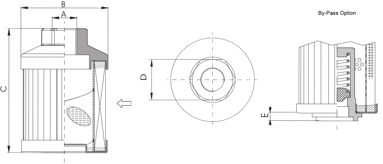 FS173B6T60 Saugfilter (Anschraubelement)