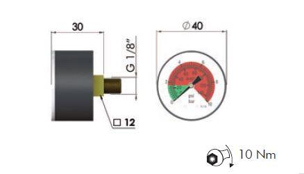 """MPB Wartungsanzeiger 10 bar (opt.) 1/8"""""""