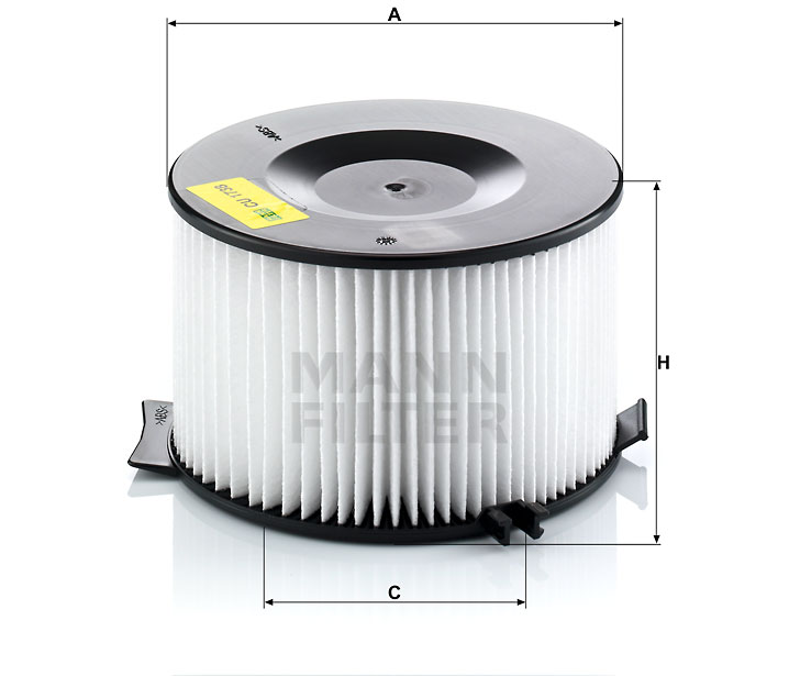 CU 1738 IR-Luftfilterelement (rund)
