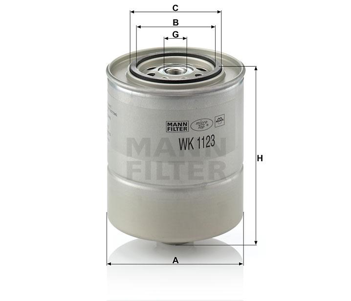 WK 1123 Kraftstoffwechselfilter