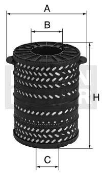 H 34 1790/2 Flüssigkeitsfilterelement